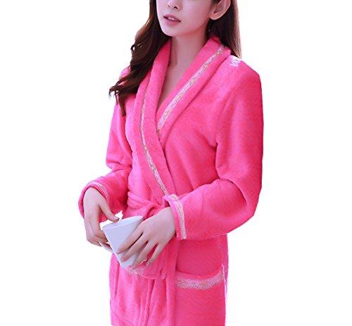 Organic Flannelette - Respeedime Womens Nightgown Fall and Winter Bathrobe Long Sleeve Pajamas Robe M