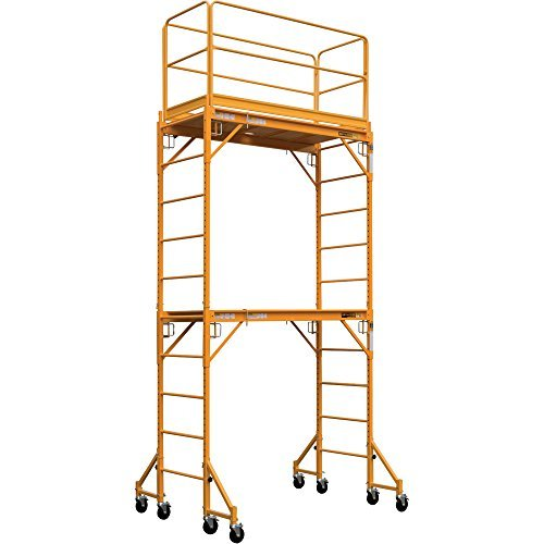 1000 Series Guard Rail - Metaltech Multipurpose Maxi Square Baker Style Scaffold Tower Package - 12ft, 1,000-Lb. Capacity, Model# I-TCISC