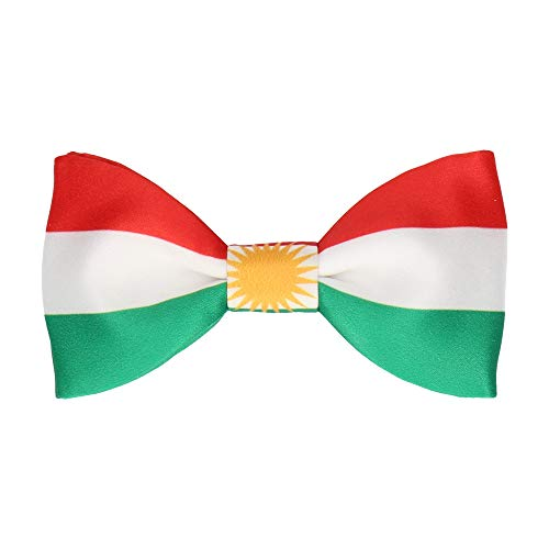 Mrs Bow - Corbata con banderas, corbata de fila preatada, Kurdistan, Pre-Tied