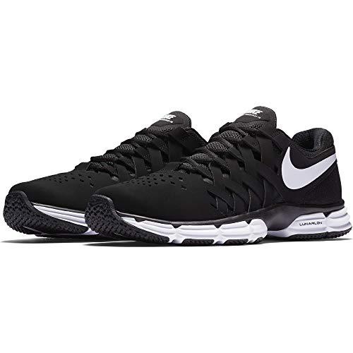 Nike Men's Lunar Fingertrap Trainer Cross, Black/White-Black, 9 Regular US