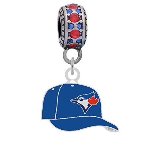 (Final Touch Gifts Toronto Blue Jays Cap Charm Fits Most Bracelet Lines Including Pandora, Cham Ilia, Troll, Biagi, Zable, Kera, Personality, Reflections, Silverado and More ...)
