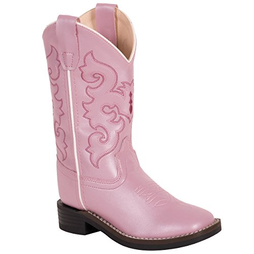 Old West Girls' Western Boot Square Toe Pink 10 D(M) US ()