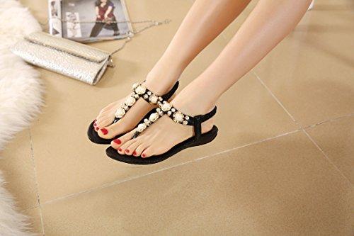 dqq Damen Perlen ankls Gurt String Sandale 1