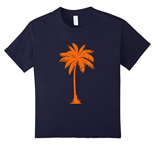 Palm Tree Costumes (Kids Halloween Style Cool Summer Top Palm Tree Costume T-shirt 12 Navy)