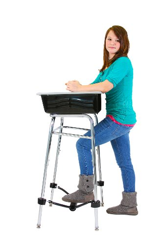 "Standing Desk Conversion Kit for Student Desk - Leg extension - 19"" long, 1"" diameter"