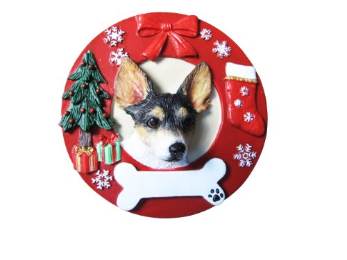Rat Terrier Ornament Personalized and Hand Painted Measures 3.75 Inches Diameter ()