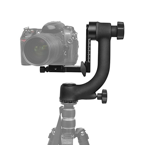 SHOOT Aluminum Alloy 360 Degree Panoramic Gimbal Tripod Head Ball Mount Tray for Canon Nikon DSLR SLR Camera Telephoto Lens (Supports up to 44lbs)