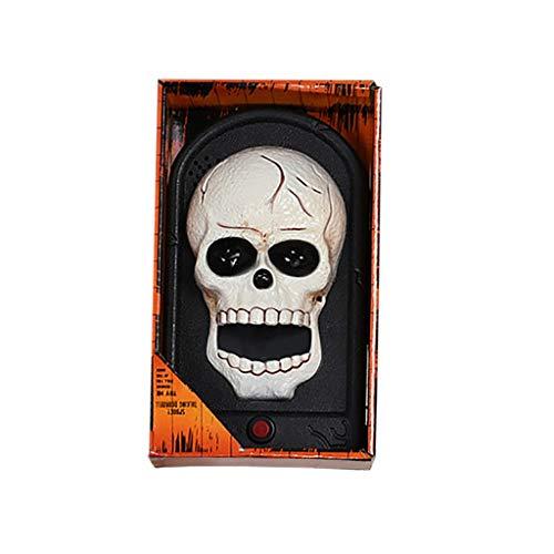 AfazfaHalloween Prop Terror Scary Haunted House Decoration Light LED Toy Doorbell (C)]()