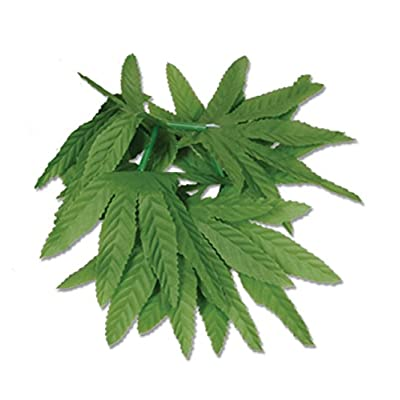"Tropical Fern Leaf Wristlet/Anklet 10"" (pack of 4): Kitchen & Dining"