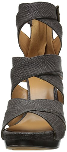 Grey Sandal West Heeled Bonjorno Women Dark Leather Nine AzBUz