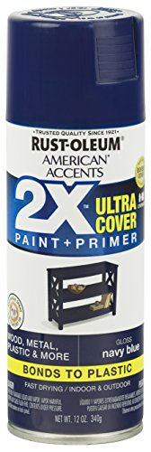 Rust-Oleum 327898 American Accents Ultra Cover 2X Gloss, Gloss Navy (Navy Blue Gloss)