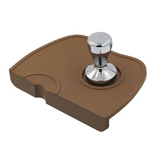 Cheap Tamper Mat Coffee Silicone Mat Expresso tampering mat, Coffee Tamper Station Anti-Slip Mat Barista Tool Tamp Pad Brown Mat