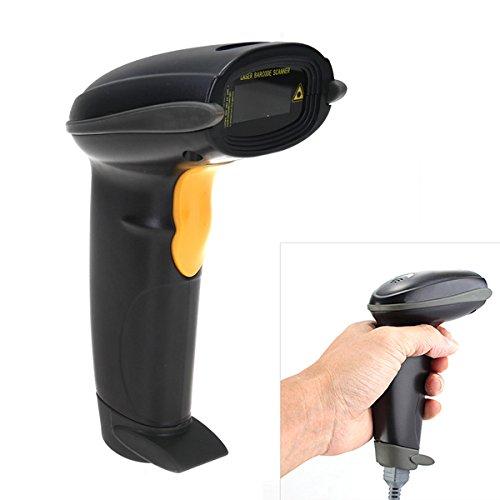 Automatisch Laser USB Barcode-Scanner Barcodeleser Handscanner 3 Modi Schwarz