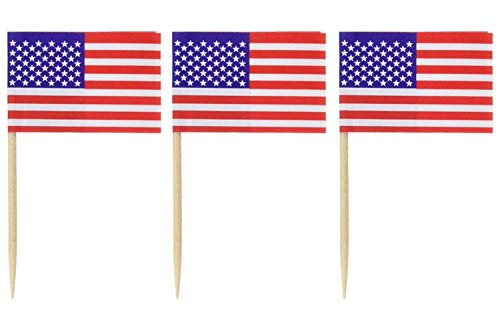Pkgd U S Flag Picks (50/Pkg) 3 pack