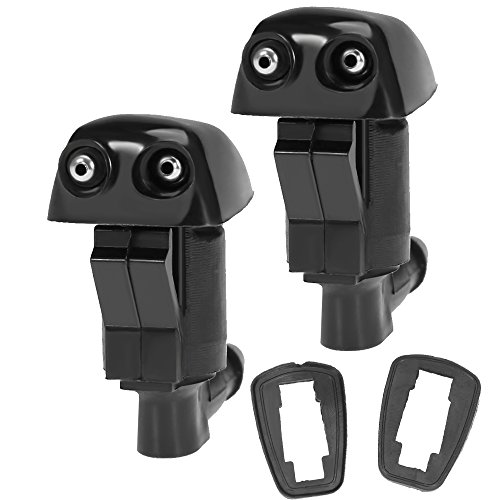Price comparison product image QUIOSS Set of 2 Windshield Wiper Nozzle Front Washer For Dodge Nitro 2007-2011 Jeep Liberty 2005-2010