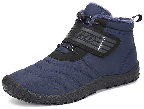 Chaussures Plates Bottines De Homme Boots Saguaro Lacets Bleu Bottes Chaudes Fourrées Neige New Femme Hiver AqE0Z