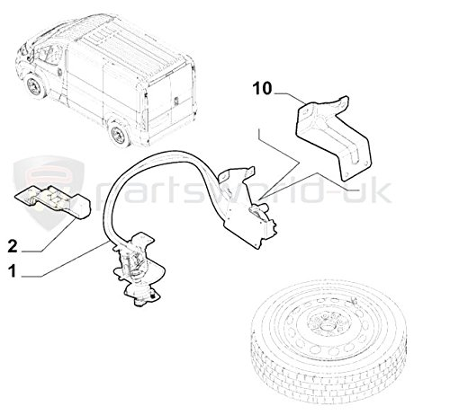 Genuine Fiat Ducato 2015 Onwards Spare Wheel Winch Lowering Kit 15 16 Amazoncouk Car Motorbike: Fiat Ducato Central Locking Wiring Diagram At Johnprice.co