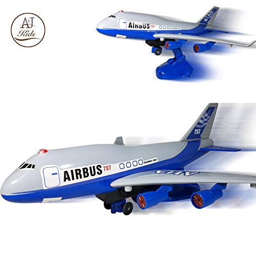 ANJ Kids Toys – Battery Operated Airplane Toy for Boys and Girls – Bump N Go, Ascending and Descending Modes with…