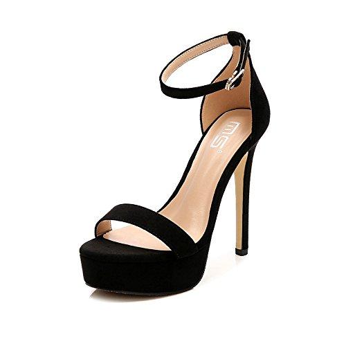 À Haut GAOLIM 8 Creuses À Sandales Avec Chaussures Cm Talon Rosée Fine Bas Sandales Chaussures Avec À Fentes Femmes Haut Talon Avec Supérieure À Imperméables Orteil Des Black Élevée RFYxRqr