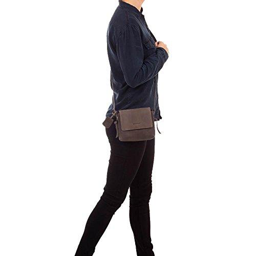 Burkely de Lena x Over Flap Bag Sac à bandoulière–Gris foncé