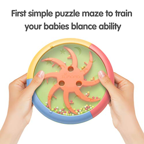 TUMAMA 3-in-1 Baby Musical Drum Instruments with Light and Sounds,Sorting Stacking Toys, Blance Maze Ball Toy Gift for…