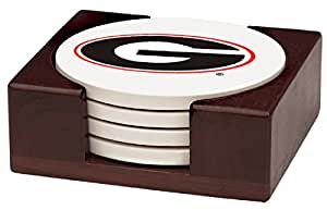 5 Piece University of Georgia Wood Collegiate Coaster Gift Set