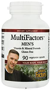 Natural Factors Multifactors Men's 90 Vegetarian Capsules