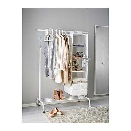 IKEA RIGGA- Perchero de pie, (altura máx.) 175 cm x 111 cm x 51 cm, color blanco, 1