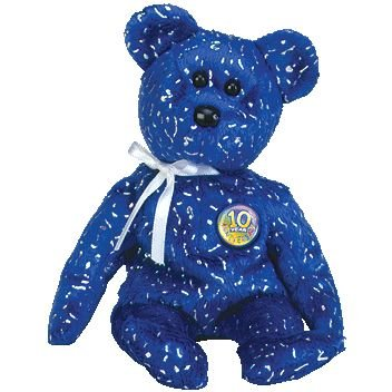 Amazon.com  TY Beanie Baby - DECADE the Bear (Royal Blue Version) by  Unknown  Toys   Games 9bcc3a25212a