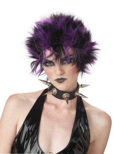 [Glitter Punk Wig (Purple)] (Glitter Wigs)