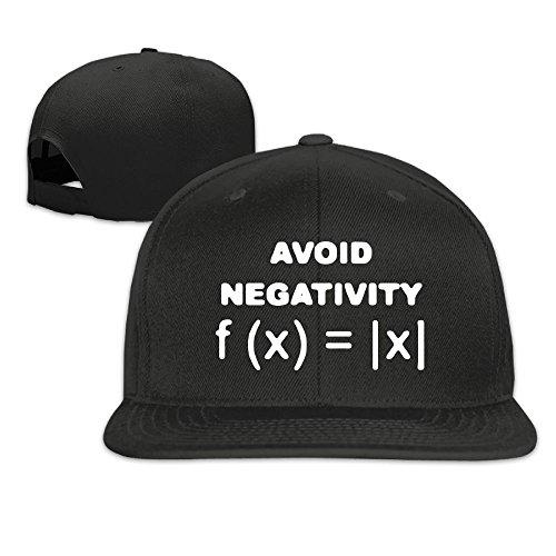 Suta Avoid Negativity Funny Math Flat Bill Snapback Adjustable Rowing Caps Hats Black