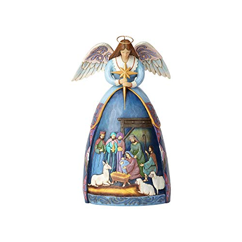 Enesco Jim Shore Hwc Fig Angel With Nativity
