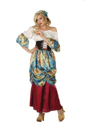 RG Costumes Women's Esmeralda, Burgundy/Blue/Cream/Multi, Medium/6-8