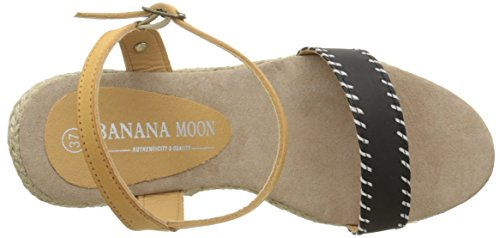 de Negro cuña Cortina 3 Moon Mujer Banana Sandalias TI0wXA