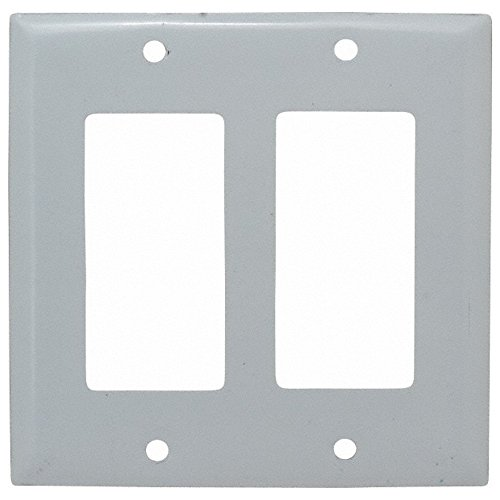 2 Gang, 4-1/2 Inch Long x 4.6 Inch Wide, Standard Outlet Wall Plate, GFCI/Surge Receptacle, Metallic, Stainless Steel by Hubbell Wiring Device-Kellems