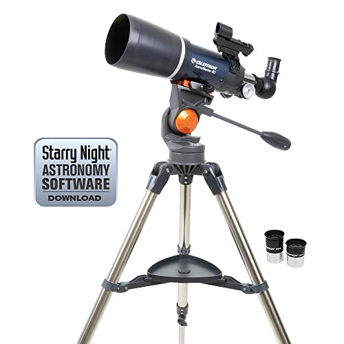 Celestron 21082 AstroMaster Refracting Telescope, Observe in no time,
