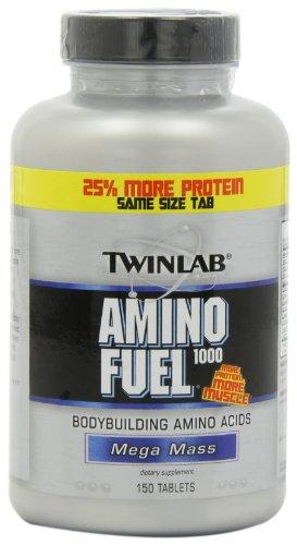 Twinlab Amino Fuel 1000 Mega Mass, 150 comprimés (pack de 2)
