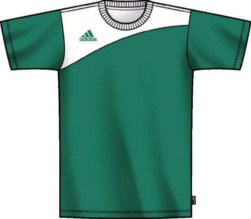 adidas Big Boys'  Sereno Short-Sleeve Jersey,Twilight Green, White,X-Large