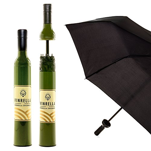Vinrella Wine Bottle Umbrellas, Green Label