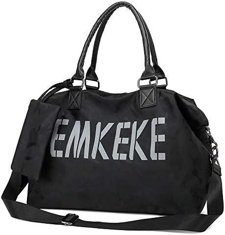 [スポンサー プロダクト]EMKEKE 大容量 2WAY トートバッグ ショルダーバッグ レディース 斜めがけ 防水 ミニポーチ付き 1ー2泊 ボストンバッグ ジムバッグ スポーツ マザーズバッグ 通勤 旅行 出張 かばん ナイロン