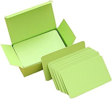 iTemer DIY Blank Wort Karten Papier Karte quadratische Faltkarten Memory Wort Karten Memorandum Note Pads Schwarz 100 Blatt