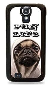 Pug Life Galaxy s4 Black Silicone Case