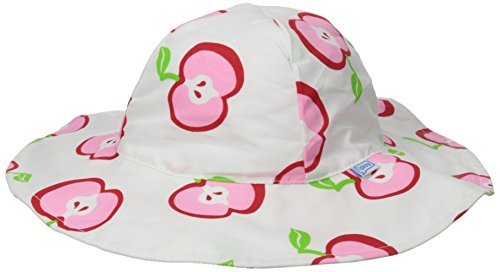 i play. Baby Girls' Mod Brim Sun Protection Hat, White, Infant/6 18 Months