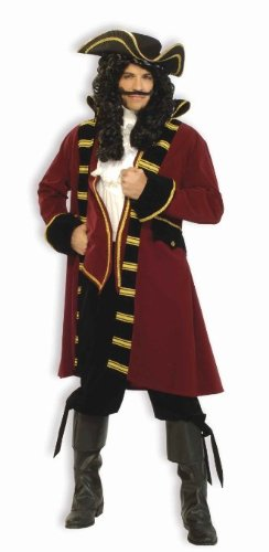 Forum Designer Deluxe Pirate Captain Costume, Multi, Extra Large - Captain Hook Pirate