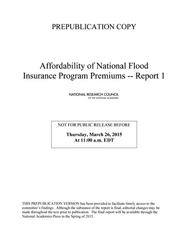 Affordability of National Flood Insurance Program Premiums: Report 1 Pdf