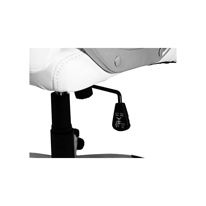 41jM4gSZolL Silla de oficina de diseño clásico con respaldo y asiento acolchados. Perfecta para despachos, aportando un toque sofisticado. Con reposabrazos, para mayor comodidad Tapizado en piel sintética, fácil de limpiar Soporte con cinco ruedas resistentes que se desplazan fácilmente en cualquier dirección y en cualquier tipo de superficie, tanto moqueta como azulejo o parquet