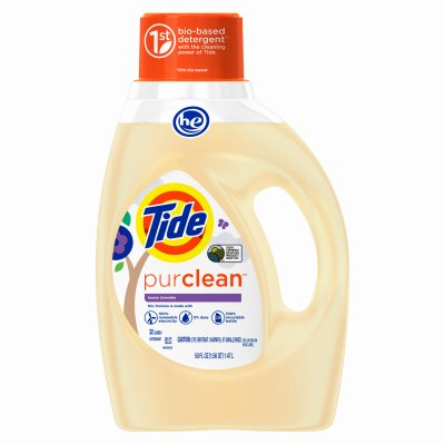 Tide PurClean Liquid Laundry Detergent for Regular/HE Washers, Honey Lavender Scent