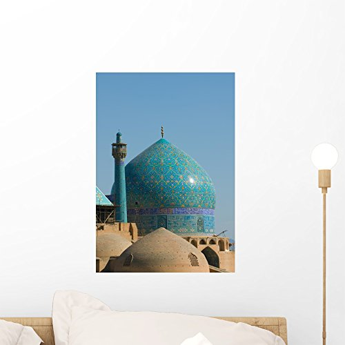 Wallmonkeys Imam Mosque Isfahan Iran Wall Mural Peel and Stick Graphic (18 in H x 13 in W) - The Imam Mosque