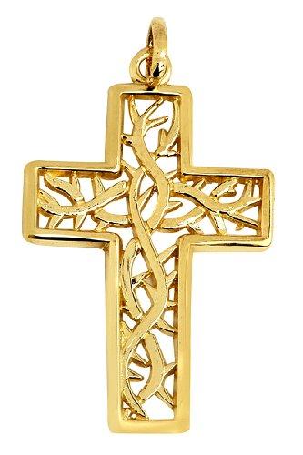 10 ct 471/1000 Celtique Celtique-Croix-Or Pendentif