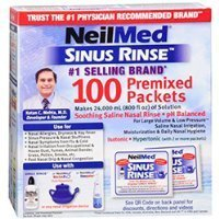 Sinus Rinse Kit Packets Refill (NeilMed Sinus Rinse Refill Packets, 100 ct, 2 pk Sold By HERO24HOUR Thank You)